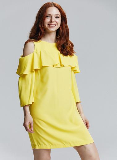 Love My Body Elbise Sarı